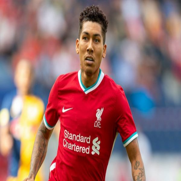 SALZBURG, AUSTRIA - Tuesday, August 25, 2020: Liverpool's Roberto Firmino during a preseason friendly match between FC Red Bull Salzburg and Liverpool FC at the Red Bull Arena. (Pic by Propaganda)