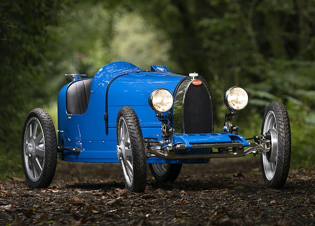 Small is beautiful: Three versions of the electric Bugatti 'Baby II' cost between ₤27,000 and ₤53,000