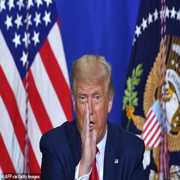 US President Donald Trump speaks to officials during a roundtable discussion on community safety yesterday.The dollar has a history of weakening ahead of US presidential elections