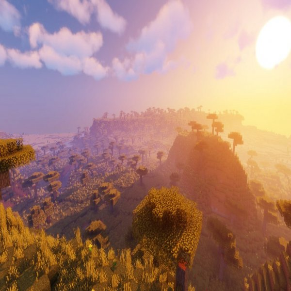 Savannas look absolutely incredible with Sildur's Vibrant Shaders for Minecraft 1.16.2.